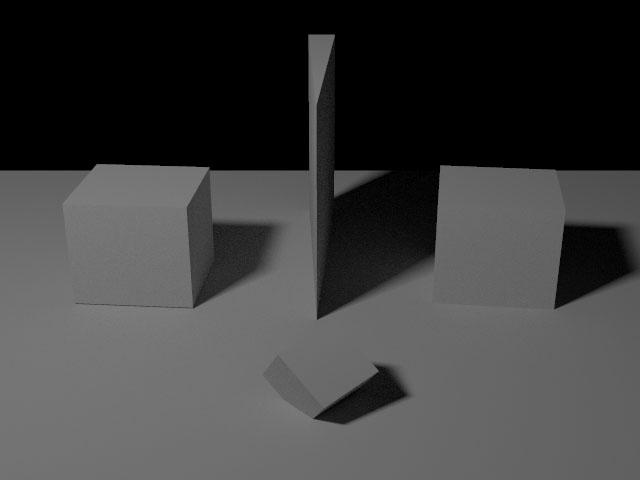 Geometry test scene