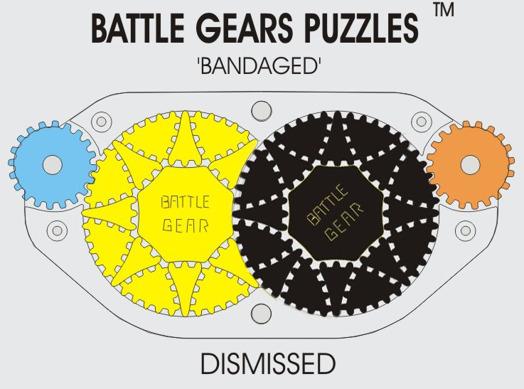 BATTLE GEARS after rotating the black disk counterclockwise.