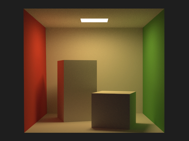 The Cornell Box rendered with Deluxe Render.